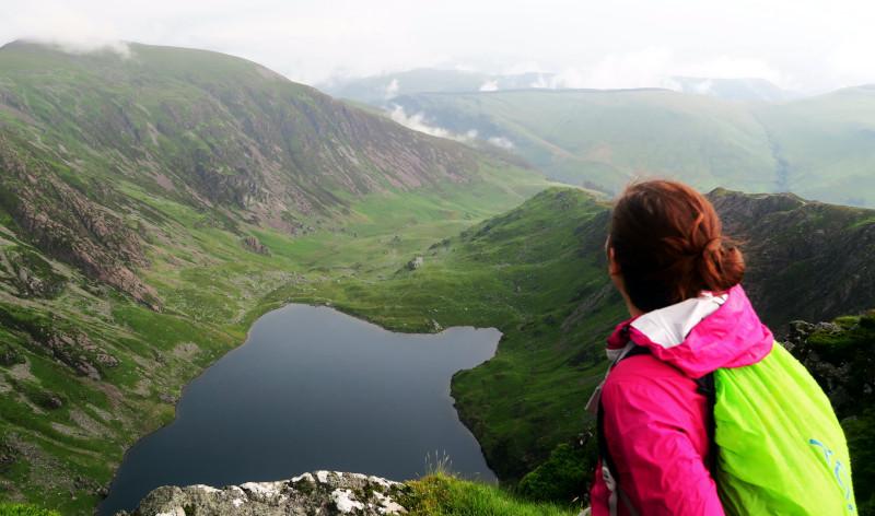 Ausblick auf einen Bergsee bei Cadair Idris