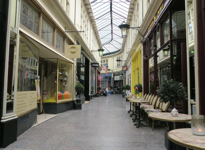 Viktorianische Einkaufspassage im Zentrum von Cardiff