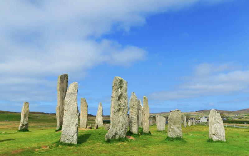 Blick auf die Steinformation von Callanish